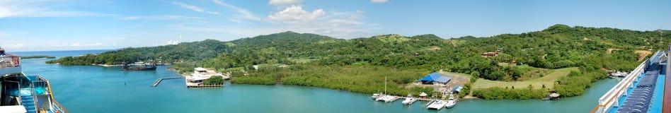 Roatan Island Panorama Royalty Free Stock Photos