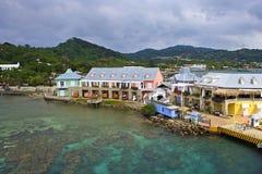 Roatan island port, Honduras royalty free stock photo