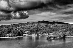 Roatanbaai, Honduras stock fotografie