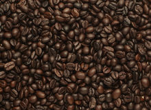Roated coffee beans, can be used as a background Stock Images