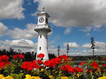 Roath公园纪念品灯塔 库存照片