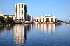 Roath Basin,  Cardiff Bay Royalty Free Stock Photos