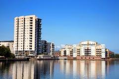 Roathbassin in de Baai van Cardiff stock fotografie