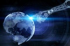 Robótica, Cyberspace e conceito da tecnologia ilustração royalty free