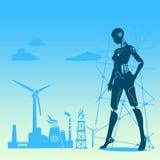 Robô abstrato do humanoid ilustração royalty free