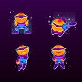 Robô bonito Caráter do robô dos desenhos animados ilustração royalty free