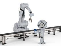 Robô com braço robótico ilustração royalty free