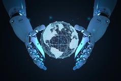 Robô com conexão global ilustração royalty free