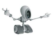 Robô com eyeglass grande ilustração stock