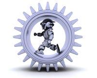 Robô com mecanismo de engrenagem ilustração do vetor