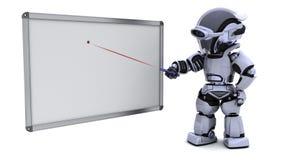 Robô com placa branca em branco ilustração royalty free