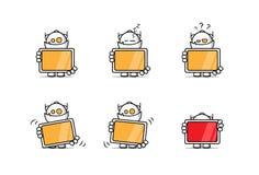 Robô com uma tela Foto de Stock