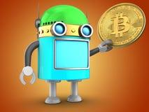 robô 3d sobre a laranja Fotografia de Stock