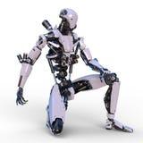 Robô da batalha ilustração royalty free