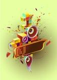 Robô da música Imagens de Stock