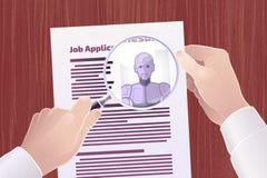 Robô de aluguer para Job Position ilustração stock