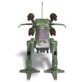 Robô de transformação futurista e nave espacial do scifi Imagem de Stock Royalty Free