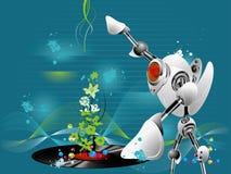 Robô DJ Ilustração Stock