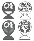Robô do Ai da inteligência artificial - grupo do ícone ilustração royalty free