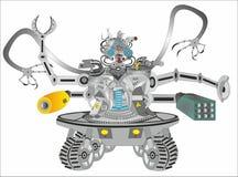 Robô do Cyborg da ficção científica ilustração stock