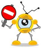 Robô do tráfego ilustração stock