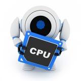 Robô e processador central ilustração stock