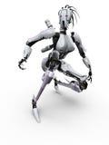 Robô fêmea ilustração stock