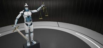 Robô Humanoid Justitia ilustração stock