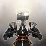 Robô que representa a boa inteligência artificial ilustração stock