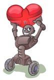 Robô que runing com bolha do amor Foto de Stock