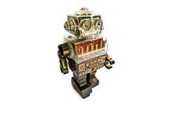 Robô retro do brinquedo Fotografia de Stock