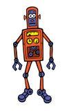 Robô retro dos desenhos animados Ilustração Stock