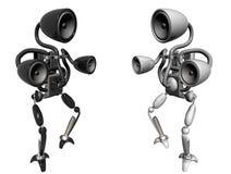 Robôs da música ilustração royalty free