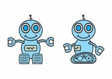 Robôs de sorriso ilustração stock