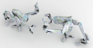 Robôs do caminhante, lutando Imagem de Stock Royalty Free