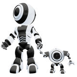 Robôs grandes e pequenos   Foto de Stock