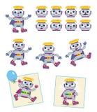 Robôs - personagens de banda desenhada Foto de Stock Royalty Free