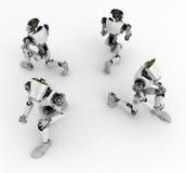 Robôs que ajoelham-se, 4 lados Foto de Stock Royalty Free