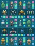 Robôs sem fio modernos com grupo do sistema automático ilustração stock