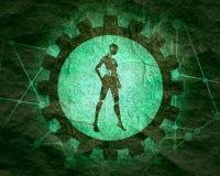 Rob? abstrato do humanoid imagem de stock royalty free