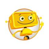 Robô amarelo engraçado Imagem de Stock