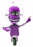 Robô amigável que aponta em algo Fotos de Stock Royalty Free