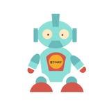 Robô bonito com sapatas vermelhas ilustração stock