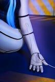Robô bonito da mulher fotografia de stock royalty free