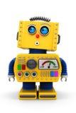 Robô bonito do brinquedo que olha acima Imagens de Stock Royalty Free