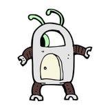 robô cômico do estrangeiro dos desenhos animados Fotografia de Stock Royalty Free