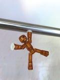 Robô contra a gravidade Imagem de Stock Royalty Free
