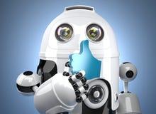 robô 3d com símbolo COMO Contem o trajeto de grampeamento ilustração royalty free