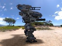 Robô da batalha Fotografia de Stock Royalty Free
