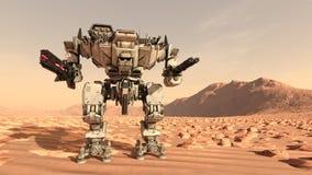 Robô da batalha ilustração do vetor